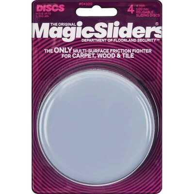 Magic Sliders 4 In. Round Furniture Glide,(4-Pack)