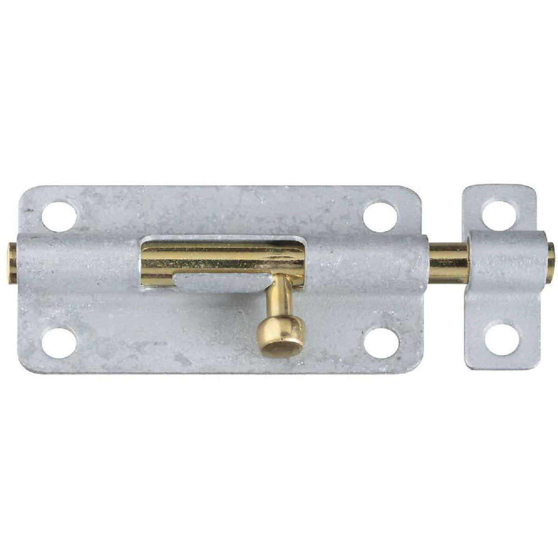 National 4 In. Galvanized Steel Door Barrel Bolt Image 1