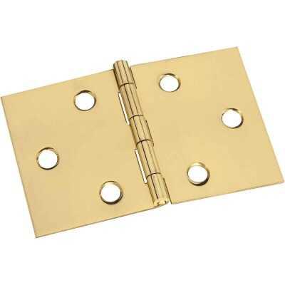 National 2 In. x 3-1/16 In. Brass Desk Hinge (2-Pack)