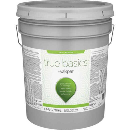 True Basics by Valspar Satin Exterior Paint, 5 Gal., Pastel Base