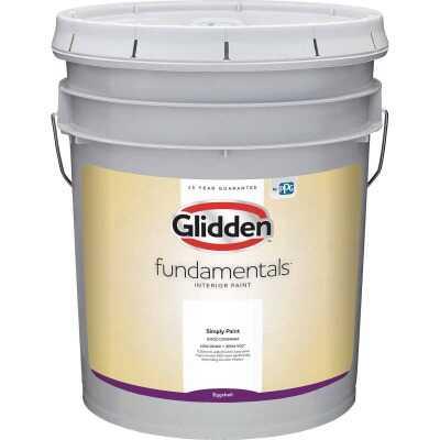 Glidden Fundamentals Interior Paint Eggshell White & Pastel Base 5 Gallon