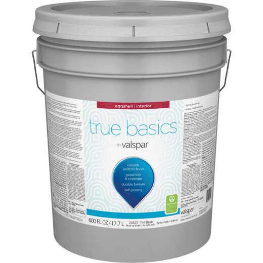 True Basics by Valspar Eggshell Interior Paint, 5 Gal. Tint Base