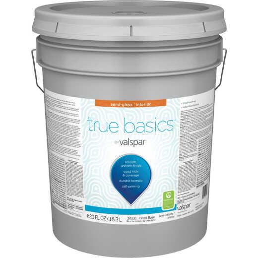 True Basics by Valspar Semi-Gloss Interior Paint, 5 Gal., Pastel Base